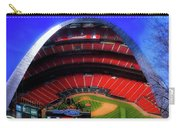 Busch Stadium A Zoomed View From The Arch Merged Image Carry-all Pouch