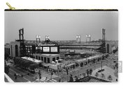 Busch Stadium From The East Garage Black And White Carry-all Pouch