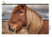 Bushy Icelandic Horse Carry-all Pouch by Pradeep Raja PRINTS