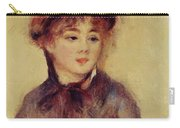 Bust Of A Woman Wearing A Hat 1881 Carry-all Pouch