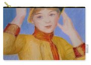 Bust Of A Woman Yellow Dress Carry-all Pouch