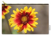 Butter Yellow And Crimson Red Coneflower Carry-all Pouch