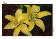 Buttercream Lilies Carry-all Pouch