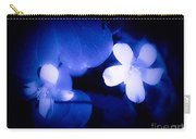 Buttercups In White Blue And Black Carry-all Pouch