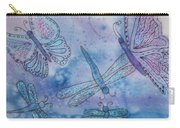 Butterflies And Dragonflies Carry-all Pouch