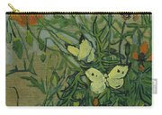Butterflies And Poppies, 1890.  Carry-all Pouch
