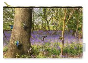 Butterflies In A Bluebell Woodland Carry-all Pouch