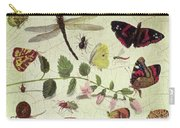 Butterflies, Insects And Flowers Carry-all Pouch