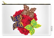 Butterflies On Roses Carry-all Pouch