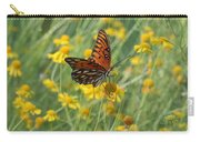 Butterfly And Flowers Carry-all Pouch