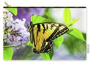 Butterfly And Lilacs Carry-all Pouch