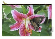 Butterfly And Lilly Carry-all Pouch