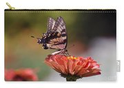 Butterfly And Orange Zinnia Carry-all Pouch