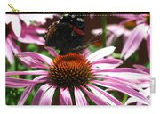 Butterfly And Pink Cone Flower Carry-all Pouch