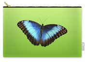 Butterfly Blue Morpho On Green Carry-all Pouch