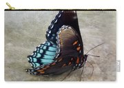 Butterfly Blue On Groovy 2 Carry-all Pouch
