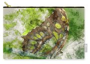 Butterfly Close Up Digital Watercolor On Photograph Carry-all Pouch