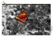 Butterfly Color On Black And White Carry-all Pouch