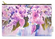 Pink Butterfly Flowers Carry-all Pouch