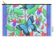 Butterfly Idyll-fuchsias Carry-all Pouch