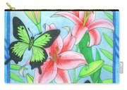 Butterfly Idyll- Lilies Carry-all Pouch