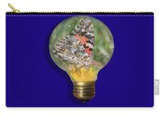 Butterfly In A Bulb II Carry-all Pouch by Shane Bechler