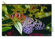 Butterfly In Garden Carry-all Pouch