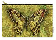 Butterfly In Golds-amber Collection Carry-all Pouch