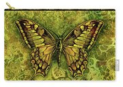Butterfly In Greens-amber Collection  Carry-all Pouch