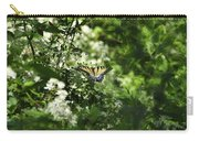 Butterfly In Muted Green Background Carry-all Pouch