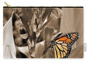 Butterfly In Sepia Carry-all Pouch