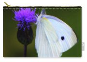 Butterfly In White Carry-all Pouch