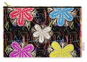 Butterfly Look Graphic Flowers Colorful  Art For A Cheerful Smiling Mood Great For Kids Room Party R Carry-all Pouch