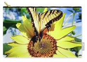 Butterfly Meets Sunflower Carry-all Pouch