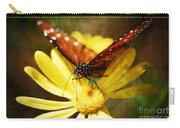 Butterfly On A Daisy  Carry-all Pouch