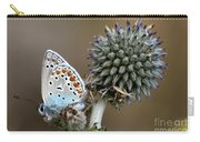 butterfly on a Echinops adenocaulon Carry-all Pouch