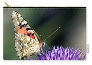 butterfly on a Silybum marianum I Carry-all Pouch