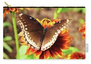 Butterfly On A Sunset Carry-all Pouch