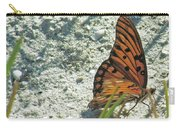 Butterfly On Beach Carry-all Pouch