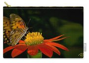 Butterfly On Blossom Carry-all Pouch