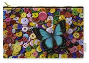 Butterfly On Buttons Carry-all Pouch
