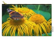Butterfly On Chrysanthemum Flowers Carry-all Pouch