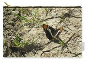 Butterfly On Cracked Ground Carry-all Pouch