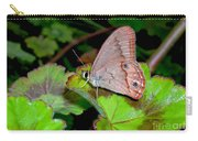 Butterfly On Geranium Leaf Carry-all Pouch