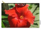 Butterfly On Hibiscus Carry-all Pouch