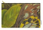 Butterfly On Leaves Carry-all Pouch