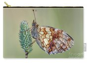 Butterfly On The Grass Carry-all Pouch