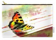 Butterfly On The Window Frame Watercolor Carry-all Pouch