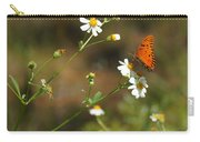 Butterfly On Widflower Carry-all Pouch