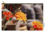 Butterfly On Yellow Flower Carry-all Pouch